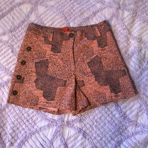 Anthropologie Cartonnier coral shorts